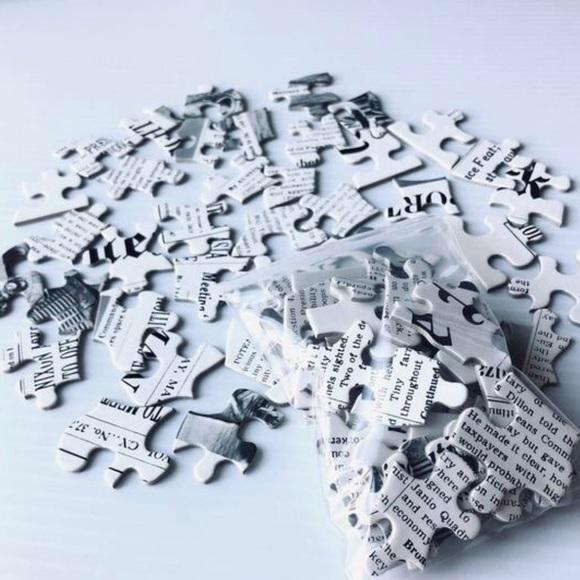 Vintage Puzzle Pieces for Crafts 40PC